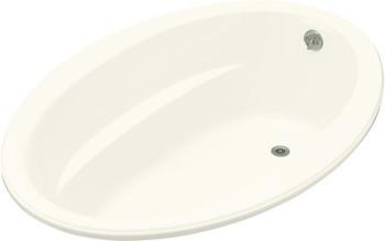 Kohler K-1163-96 Sunward 5' Oval Bath - Biscuit