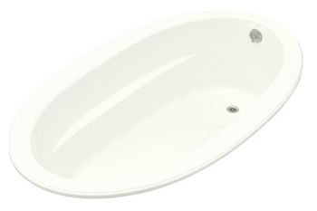 Kohler K-1164-G-0 Sunward 6' BubbleMassage Bath - White