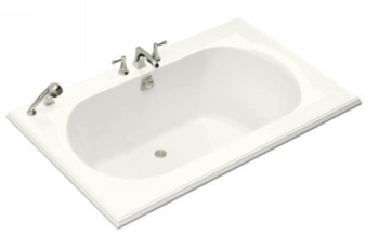 Kohler K-1169-0 Memoirs 5.5' Bath - White (Faucet and Accessories Not Included)