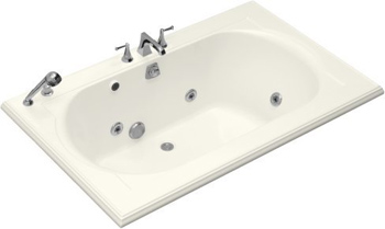 Kohler K-1170-H2-96 Memoirs 5.5' Whirlpool - Biscuit (Faucet and Accessories Not Included)