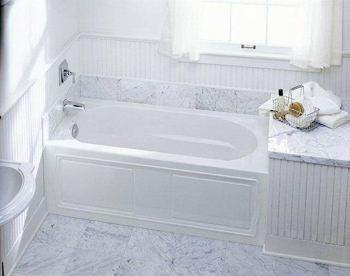 Kohler K-1184-LA-0 Devonshire 5' Bath With Integral Apron And Left Hand Drain - White (Faucet and Accessories Not Included)