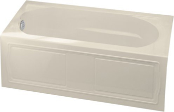 Kohler K-1184-LA-47 Devonshire 5' Bath With Integral Apron And Left Hand Drain - Almond