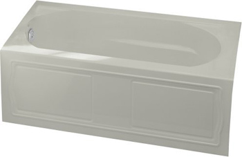 Kohler K-1184-LA-95 Devonshire 5' Bath With Integral Apron And Left Hand Drain - Ice Grey