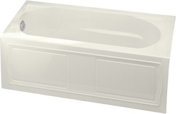 Kohler K-1184-LA-96 Devonshire 5' Bath With Integral Apron And Left Hand Drain - Biscuit