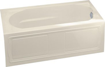 Kohler K-1184-RA-47 Devonshire 5' Bath With Integral Apron And Right Hand Drain - Almond