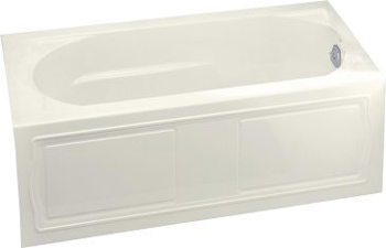 Kohler K-1184-RA-96 Devonshire 5' Bath With Integral Apron and Right Hand Drain - Biscuit