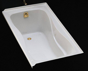 Kohler K-1219-L-0 Hourglass 5' Bath With Tile Flange and Left Hand Drain - White