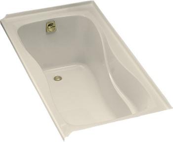 Kohler K-1219-L-47 Hourglass 5' Bath With Tile Flange and Left Hand Drain - Almond