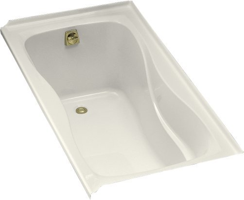 Kohler K-1219-L-96 Hourglass 5' Bath With Tile Flange and Left Hand Drain - Biscuit