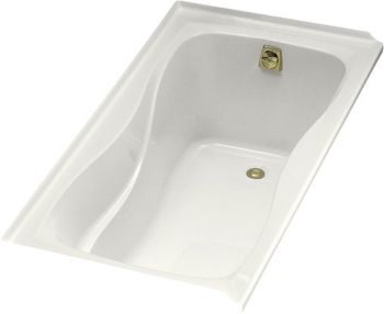 Kohler K-1219-R-0 Hourglass 5' Bath WIth Tile Flange and Right Hand Drain - White