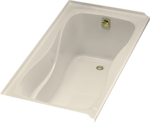 Kohler K-1219-R-47 Hourglass 5' Bath WIth Tile Flange and Right Hand Drain - Almond