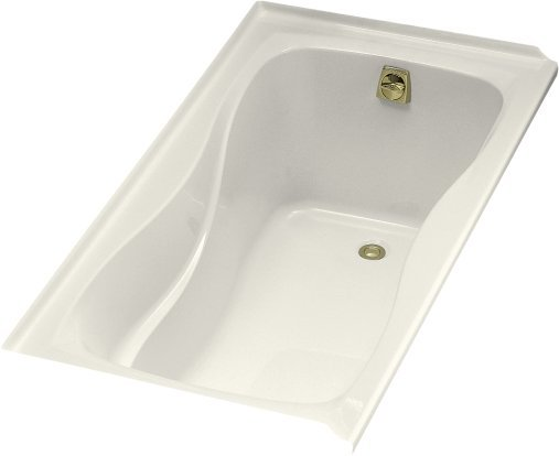 Kohler K-1219-R-96 Hourglass 5' Bath WIth Tile Flange and Right Hand Drain - Biscuit