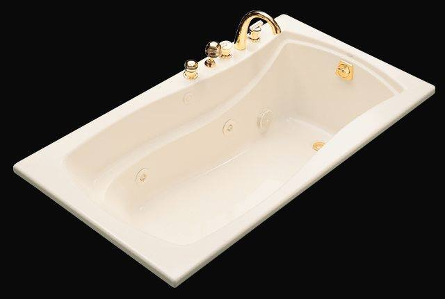 Kohler K-1224-0 Mariposa 5.5 Foot Drop In/Alcove Jetted Tub with Left Drain - White
