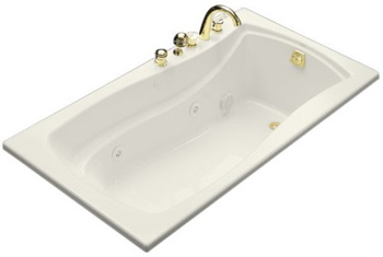 Kohler K-1224-96 Mariposa 5.5 Foot Drop In/Alcove Jetted Tub with Left Drain - Biscuit