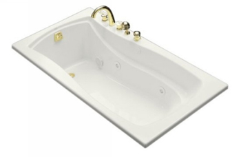 Kohler K-1224-L-0 Mariposa 5.5' Whirlpool With Integral Flange and Left Hand Drain - White