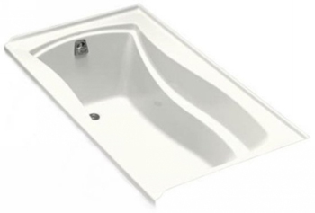 Kohler K-1229-L-0 Mariposa 5.5' Bath With Tile Flange and Left Hand Drain - White