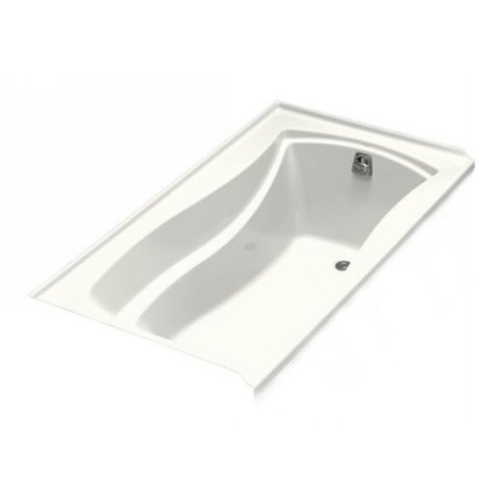 Kohler K-1229-R-96 Mariposa 5.5' Bath With Tile Flange and Right Hand Drain - Biscuit (Pictured in White)