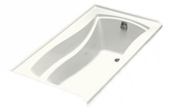 Kohler K-1229-R-0 Mariposa 5.5' Bath With Tile Flange and Right Hand Drain - White