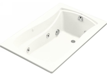 Kohler K-1239-0 Mariposa 5 Foot Drop In Jetted Tub with Left Hand Drain - White