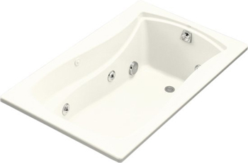 Kohler K-1239-96 Mariposa 5 Foot Drop In Jetted Tub with Left Hand Drain - Biscuit