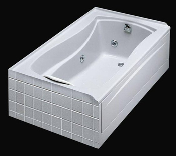 Kohler K-1239-R-0 Mariposa 5' Whirlpool With Integral Flange and Right Hand Drain - White