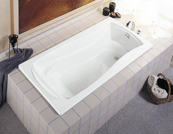 kohler k12420 mariposa 5 foot drop in soaking tub with reversible drain white - Kohler Tub