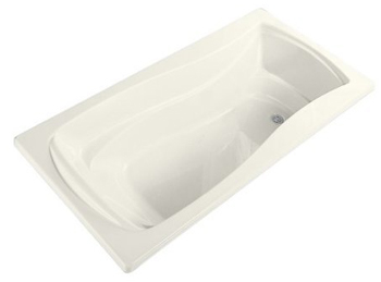 Kohler K-1242-96 Mariposa 5 Foot Drop In Soaking Tub with Reversible Drain - Biscuit