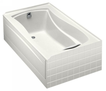 Kohler K-1242-L-0 Mariposa 5' Bath With Tile Flange and Left Hand Drain - White