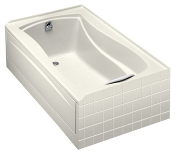 Kohler K-1242-L-96 Mariposa 5' Bath With Tile Flange and Left Hand Drain - Biscuit