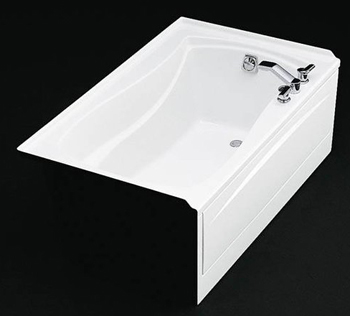 Kohler K-1242-R-0 Mariposa 5' Bath With Tile Flange and Right Hand Drain - White