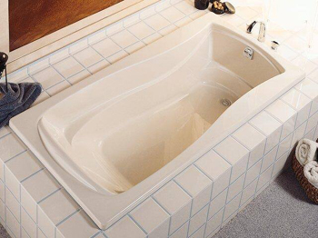 Kohler K-1259-0 Mariposa 6' Bath With Reversible Drain - White
