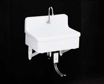 Kohler K-12781-0 Gilford Scrub-Up/Plaster Sink - White