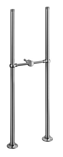Kohler K-128-BN Antique Bath Faucet Riser Tubes - Brushed Nickel (Pictured in Polished Chrome)