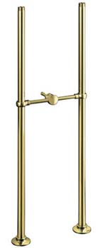 Kohler K-128-PB Antique Bath Faucet Riser Tubes - Vibrant Polished Brass