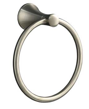 Kohler K-13435-BN Coralais Towel Ring - Vibrant Brushed Nickel