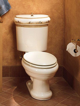 Kohler K-14239-PH-96 Pheasant Design On Revival Two-Piece Toilet - Biscuit