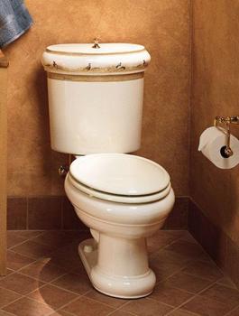 Kohler K-14239-PH-96 Pheasant Design On Revival Two-Piece Toilet - Biscuit