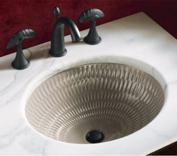 Kohler K-14280-C5-K5 Ricochet Undercounter Lavatory - Translucent Cashmere (Faucet and Accessories Not Included)