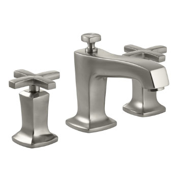 Kohler K-16232-3-BN Margaux Double Handle Widespread Lavatory Faucet With Metal Cross Handles - Brushed Nickel