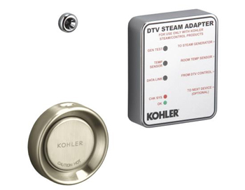 Kohler K-1737-BN DTV II Steam Adapter Kit - Brushed Nickel