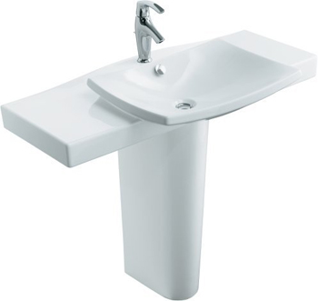 Kohler K-18691-1-96 Escale Pedestal Lavatory - Biscuit (Pictured in White)