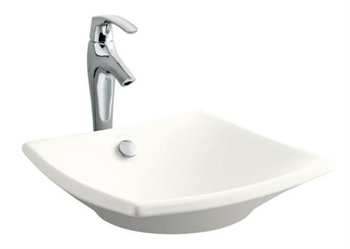Kohler K-19047-0 Escale Vessel Lavatory Sink With Overflow - White (Faucet Not Included)