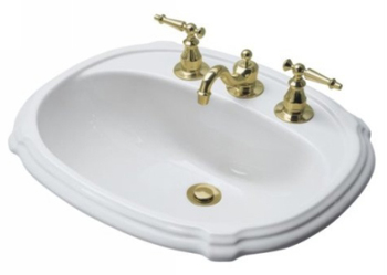 Kohler K-2189-4-0 Portrait Self-Rimming Lavatory With 4