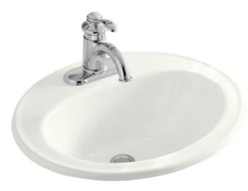 Kohler K 2196 1 7 Pennington Self Rimming Lavatory Sink Black Pictured In White