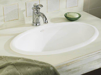 Kohler K-2220-96 Vintage Self-Rimming Lavatory Sink - Biscuit