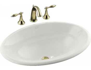 Kohler K 2264 0 Centerpiece Self Rimming Lavatory Sink White Faucetdepot Com