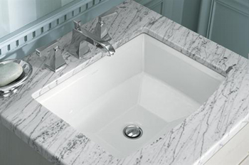 Kohler K-2355-0 Archer Undercounter Lavatory - White (Faucet Not Included)