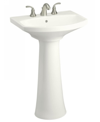 Kohler K-2362-8-0 Cimmaron Pedestal Lavatory With 8 in Centers - White