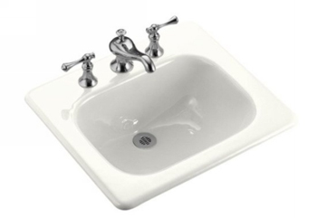Kohler K-2895-8-0 Tahoe Cast Iron Self-Rimming Lavatory Sink With 8