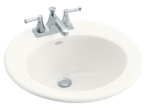 Kohler K-2917-1-0 Radiant Self-Rimming Lavatory With Single-Hole Faucet Drilling - White (Faucet Not Included)